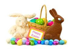Happy Easter decor and candy Stock Image