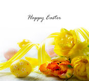Happy easter decoration stock image