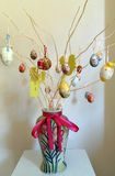 Happy Easter. Easter decoration with colorful eggs Stock Photo