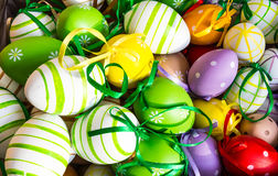 Happy Easter decorations. Traditional Spring Festival holiday Stock Photo