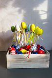 Happy Easter decorations. Traditional Spring Festival holiday Royalty Free Stock Photo