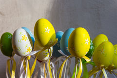 Happy Easter decorations. Traditional Spring Festival holiday Royalty Free Stock Photography