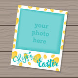 Happy Easter. Decorative template frame design for photo frame Easter. Royalty Free Stock Photos