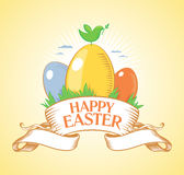 Happy Easter design. Stock Photo