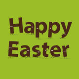 Happy easter design. Chocolate figures. Vector.  Stock Images