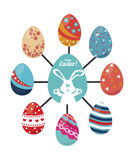 Happy easter design Stock Photography