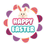 Happy Easter design. Happy Easter concept with cute icons design, vector illustration 10 eps graphic Royalty Free Stock Photos