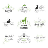 Happy Easter Design Elements Stock Photo