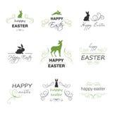 Happy Easter Design Elements. Illustration of Happy Easter Design Elements Stock Photo