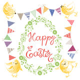 Happy Easter.   design elements for invitations, greetin. Happy Easter.   elements for a festive design Royalty Free Stock Photos