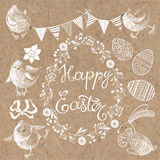 Happy Easter.   design elements for invitations. Elements for Easter theme Royalty Free Stock Image