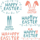 Happy easter design elements. Set of easter decorative elements Royalty Free Stock Image