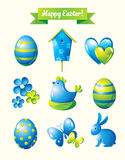 Happy Easter design elements set Stock Images