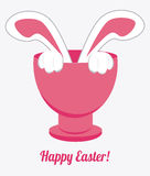 Happy easter design, vector illustration. Royalty Free Stock Image