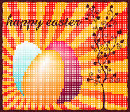 Happy easter dots Stock Photos