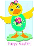 Happy Easter Duck Egg Royalty Free Stock Photos