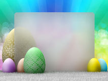 Happy Easter - easter eggs Royalty Free Stock Photos