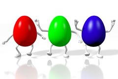 Happy Easter! Easter Eggs, colorfull, joy, holiday Stock Images