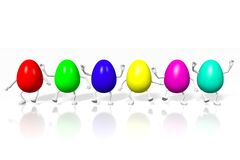 Happy Easter! Easter Eggs, colorfull, joy, holiday Royalty Free Stock Images