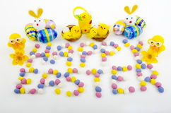 Happy Easter Easter Eggs Royalty Free Stock Photo