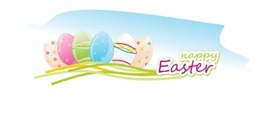 Happy easter, Easter eggs. Vector illustration. Happy easter, Easter eggs. Vector Royalty Free Stock Image