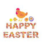 Happy Easter. Easter floral print Royalty Free Stock Photos