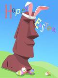 Happy Easter from Easter Island Royalty Free Stock Images