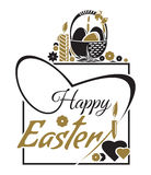 Happy Easter. Easter lettering. Typographic design. Easter greeting card Stock Photos