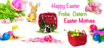 Happy Easter, Easter motives Royalty Free Stock Photos
