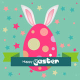 Happy easter egg background Stock Photos