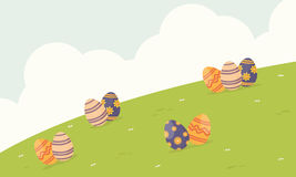 Happy easter egg background style Royalty Free Stock Photography