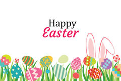Happy easter egg background template.Can be used for greeting ca Royalty Free Stock Photo