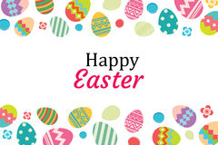 Happy easter egg background template.Can be used for greeting ca Royalty Free Stock Image