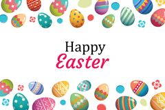 Happy easter egg background template.Can be used for greeting ca Stock Photos