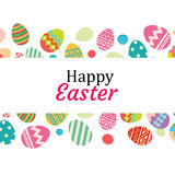 Happy easter egg background template.Can be used for greeting Royalty Free Stock Photo