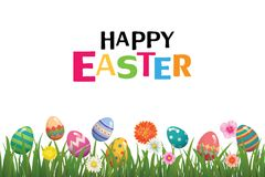 Happy easter egg background template.Can be used for greeting ca. Rd, ad, wallpaper,flyers, invitation, posters, brochure stock illustration