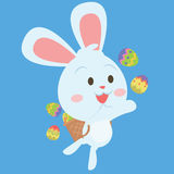 Happy easter egg bunny character Royalty Free Stock Photos