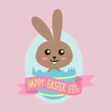 Happy Easter Egg Bunny Royalty Free Stock Photo