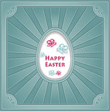 Happy Easter with egg Butterflies rays Royalty Free Stock Photography