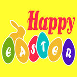 Happy Easter Egg Card Royalty Free Stock Images