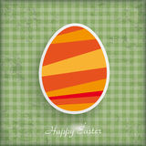 Happy Easter Egg Checked Background Stock Photography