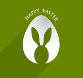 Happy Easter egg ear rabbit Royalty Free Stock Images