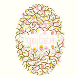 Happy Easter Egg Floral Royalty Free Stock Photography