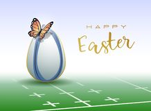 Happy Easter sports greeting card. Rugby royalty free illustration