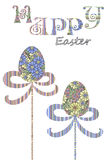 Happy Easter egg greeting card cover design Stock Images
