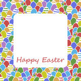 Happy Easter egg greeting card cover design Royalty Free Stock Image