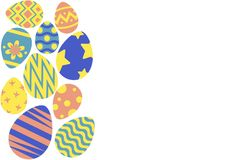 Happy easter egg hunt background. Happy easter background, easter egg hunt template, vector illustration Royalty Free Stock Photos