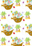 Happy Easter egg hunt seamless pattern Royalty Free Stock Images