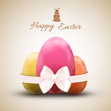 Happy easter egg icons set Royalty Free Stock Photos