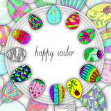 Happy easter egg  illustration Royalty Free Stock Images